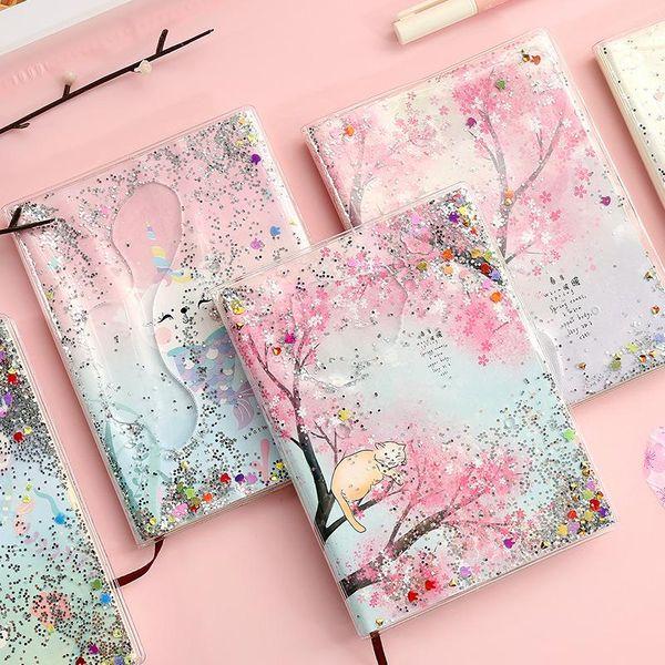 Fashion quicksand oil book PVC plastic sleeve cute hand book A6 NHHE153871
