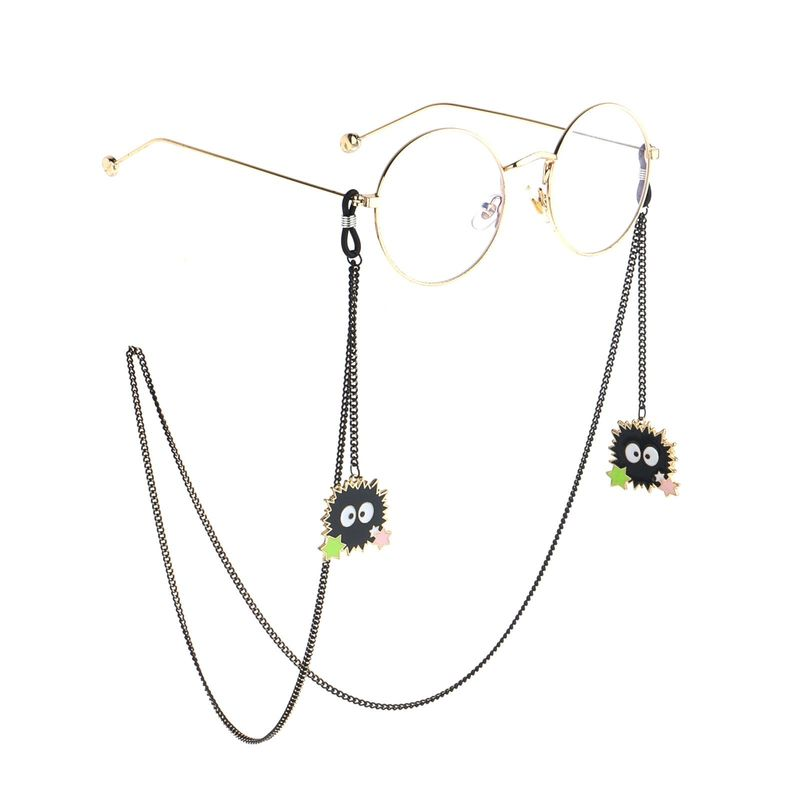 Fashion simple black star brim ball pendant glasses chain NHBC153899
