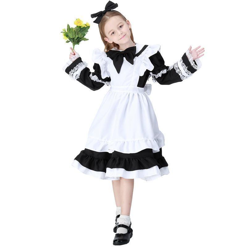 Traje de mucama Alice de moda Disfraz de cosplay de padres e hijos adultos de Halloween NHFE153927