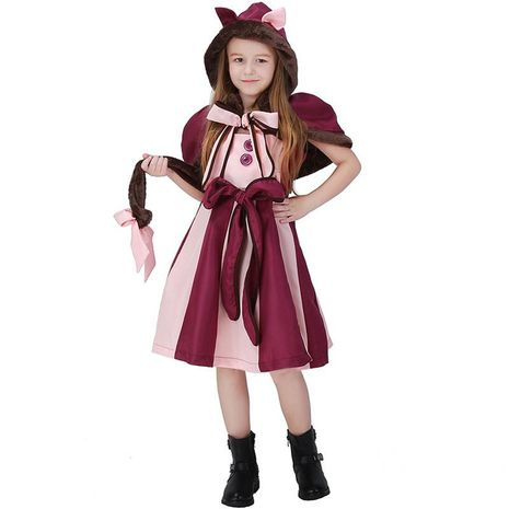 Alice in Wonderland Smiley Cat Girl Cosplay Party Halloween Costume NHFE153933's discount tags