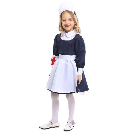 Halloween Kids Nuse Role Playing Game Uniform Party Costume NHFE153936's discount tags