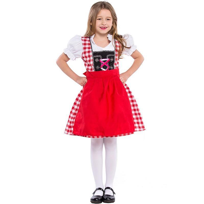 Halloween cosplay costume Oktoberfest children's plaid costume NHFE153940