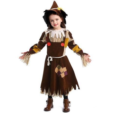 The Wizard of Oz Scarecrow Stage Performance Costume Halloween Cosplay Witch Costume NHFE153944's discount tags