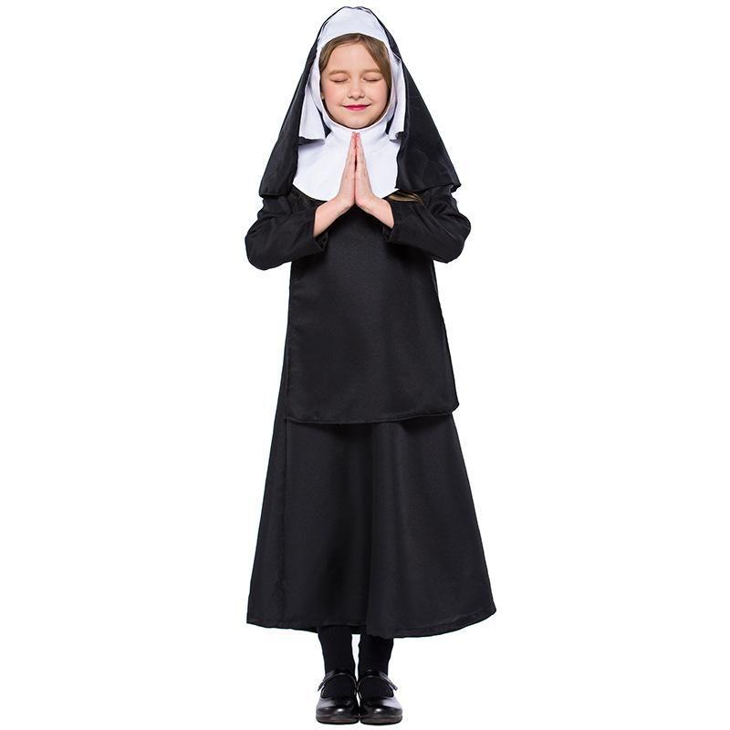 Halloween child nun costume cosplay jesus christ girl costume NHFE153950