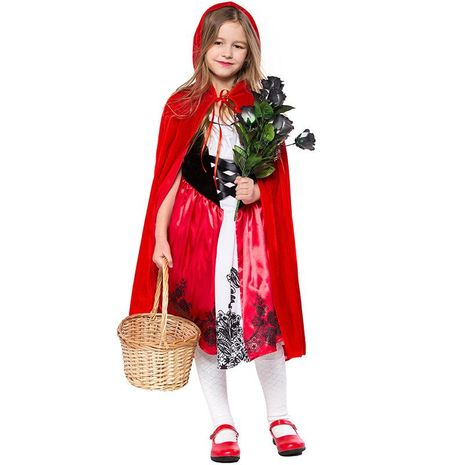 New Halloween cosplay children's Little Red Riding Hood costume NHFE153949's discount tags