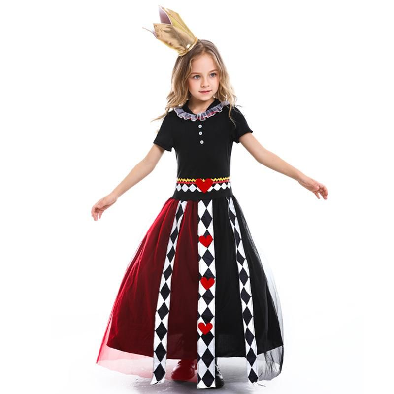 Halloween Alice in Wonderland Cosplay Poker Queen Print Leotard NHFE153962