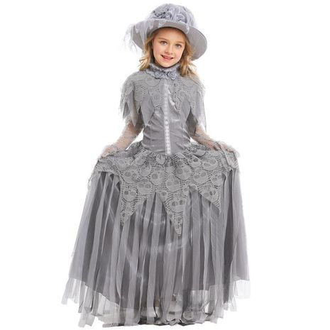 Halloween Ghost Princess Cosplay Skull Bride Costume NHFE153965's discount tags