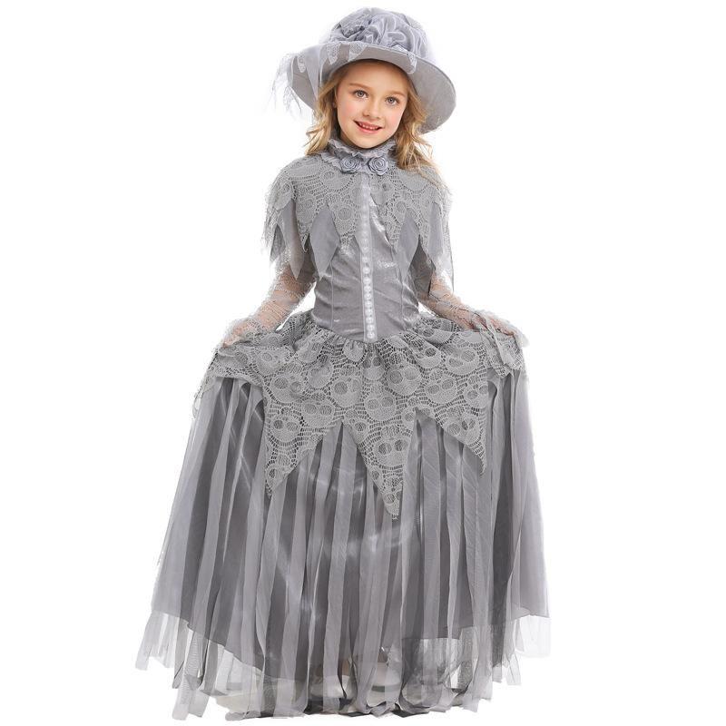 Halloween Ghost Princess Cosplay Skull Bride Costume NHFE153965