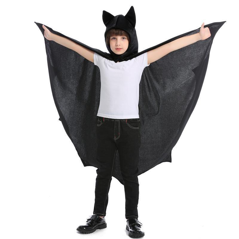 Halloween cosplay bat hooded cloak black cloak vampire costume NHFE153968