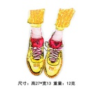 Cute pink shoes multicolor sequin embroidery Tshirt cloth stickers NHLT153704