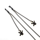 Fashion simple black cartoon palm pendant glasses chain NHBC153902