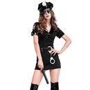 Halloween cosplay costume female black police uniform set NHFE153912