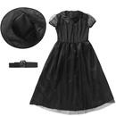 Halloween Witch Costume Black Mesh Little Devil Girl Dress Up Performance Costume NHFE153954