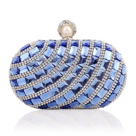 Stylish luxury artificial gemstone banquet bag NHYG154023's discount tags