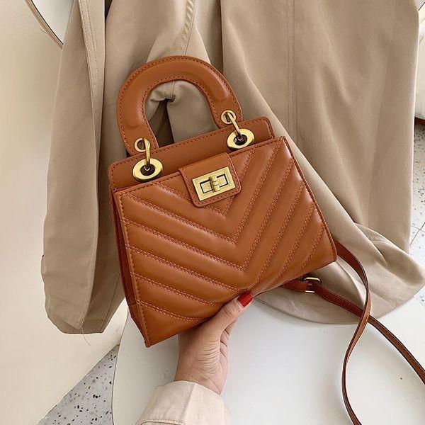 Fashion versatile lock single shoulder diagonal package NHPB154049