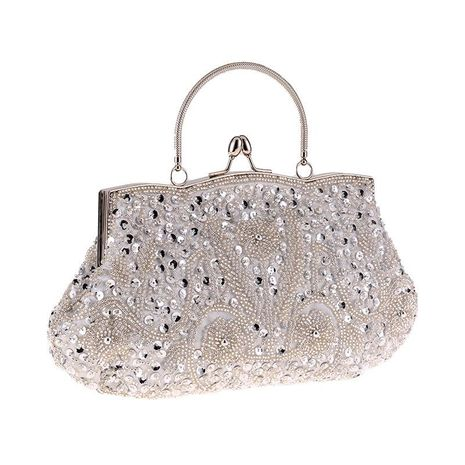 Vintage Beaded Dinner Bag NHYG154053's discount tags