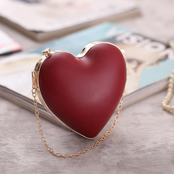 Fashion Heart Chain Shoulder Crossbody Bag NHYG154100