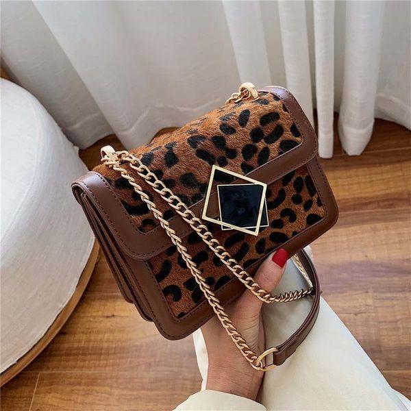Bolso cuadrado pequeño con cadena esmerilada vintage fashion NHPB154107