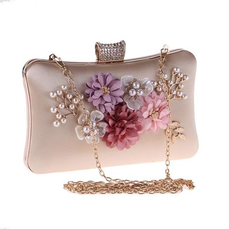 Fashion hand take flower polyester evening bag NHYG154155's discount tags