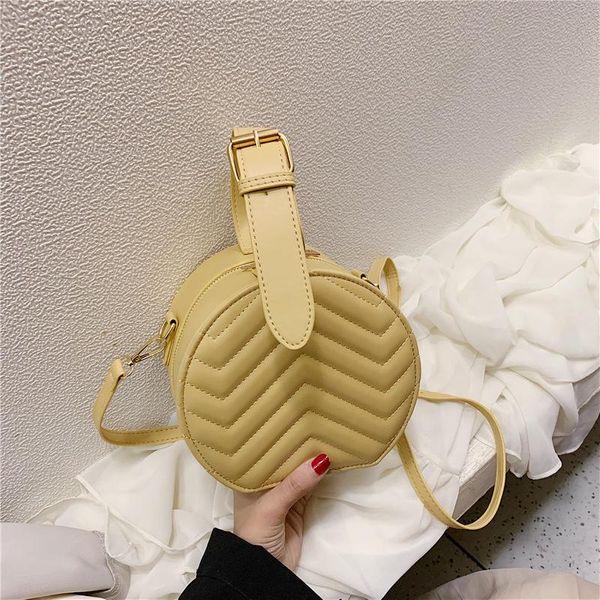 Bolso semicircular bordado con forma de onda bolso de hombro para teléfono móvil NHPB154186