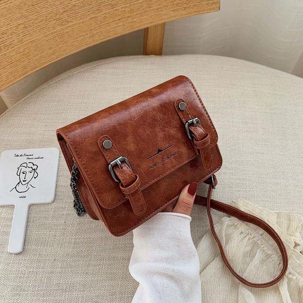 Vintage texture lock chain bag NHPB154187
