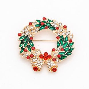 Womens Round Zinc Alloy Rhinestone Brooches NHKQ154210's discount tags