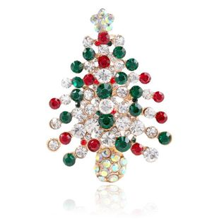 Creative holiday Christmas tree alloy brooch NHKQ154217's discount tags