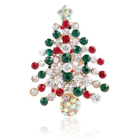 Broche de aleación de árbol de Navidad de vacaciones creativas NHKQ154217's discount tags