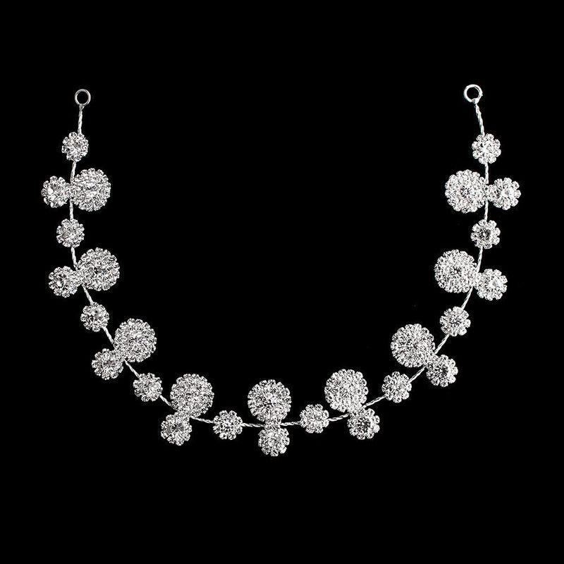 European and American minimalist flower artificial gem headband NHHS154250