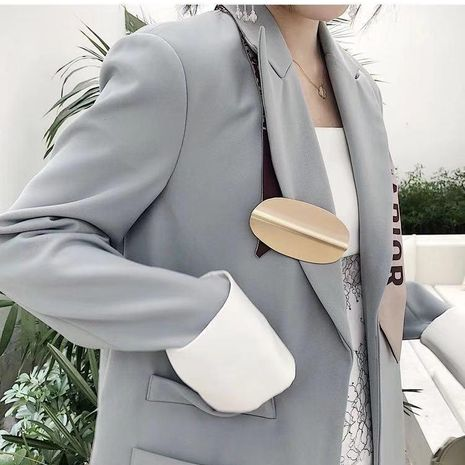 Temperament with suit jacket simple brooch NHYQ154269's discount tags