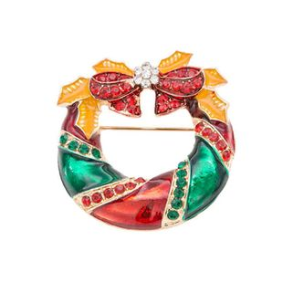 Fashion simple bow tie bell brooch NHKQ154270's discount tags