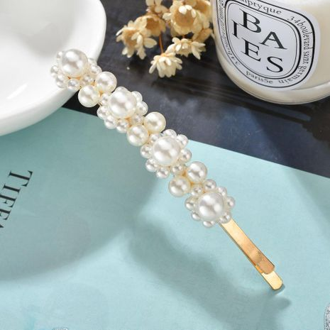 Fashion alloy flower shape double row pearl hair accessories NHBQ154284's discount tags