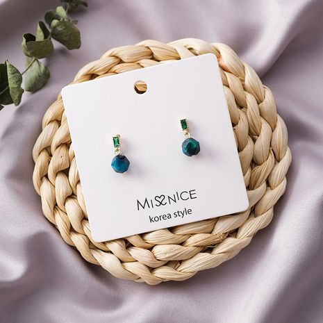 Mini Exquisite Emerald Wafer Ball Earrings NHMS154298's discount tags