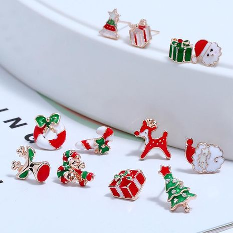 Creative Christmas Alloy Earrings NHKQ154376's discount tags