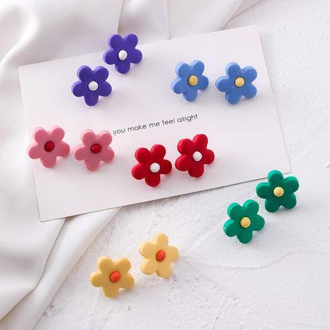 Multicolor cute little flowers daisy flower earrings NHMS154381's discount tags