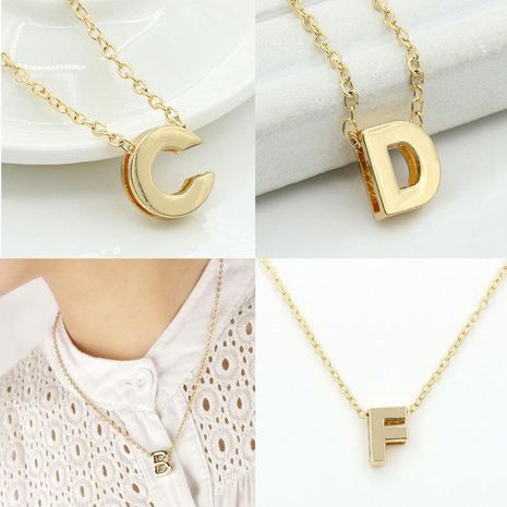 Fashion Alloy 26 Letter Necklace NHDP154401's discount tags