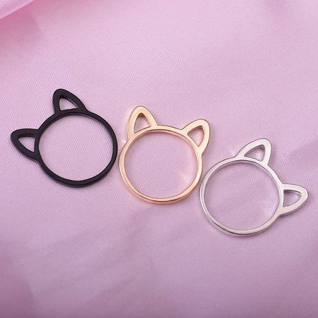 Hollowed kitten copper ring NHDP154415's discount tags