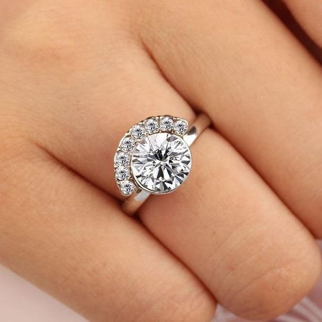 Anillo de circón de diamantes de imitación de luna nueva NHDP154416's discount tags