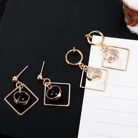 Simple geometric square bead earrings NHDP154428's discount tags