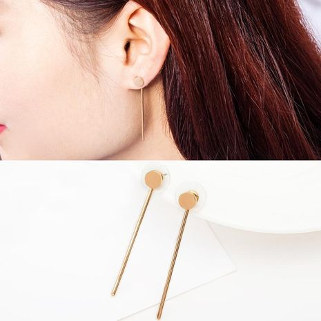 Fashion simple fringed triangle alloy earrings NHDP154431's discount tags