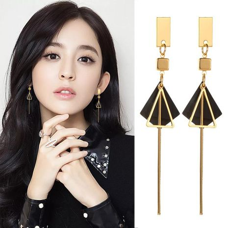 Stylish acetate geometric earrings NHDP154454's discount tags
