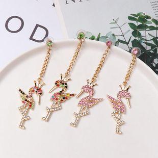 Colored diamond flamingo stud earrings NHJJ154459's discount tags