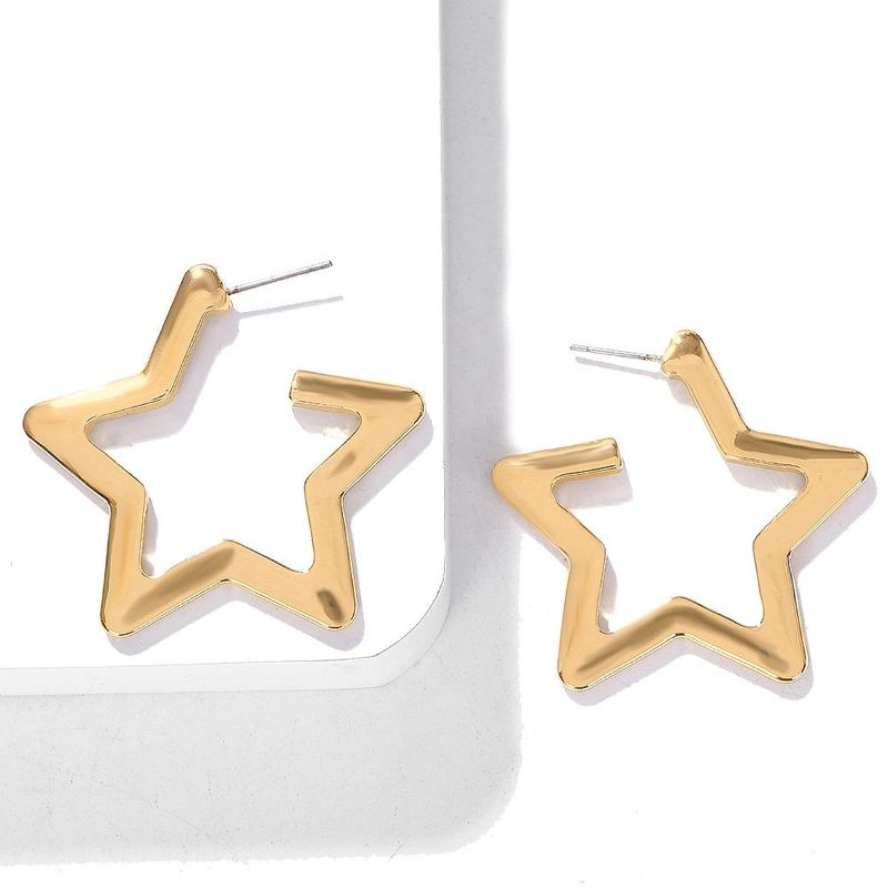 Fashion alloy five-pointed star earrings NHJQ154462
