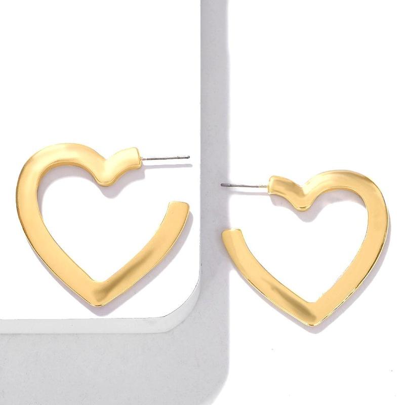 Fashion Heart Shaped Alloy Earrings NHJQ154469
