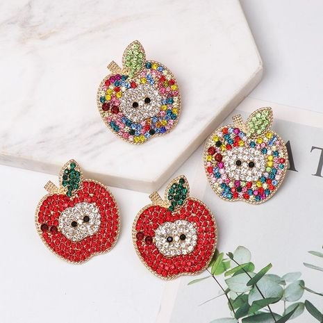 Colorful diamond fruit earrings NHJJ154477's discount tags