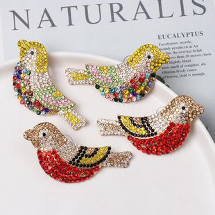 Vintage electroplated crystal diamond bird earrings NHJJ154478's discount tags