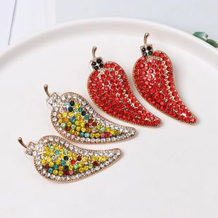 Colored diamonds with small pepper earrings NHJJ154483's discount tags
