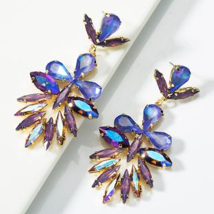 Fashion multi-layer diamond-studded earrings NHJE154495's discount tags