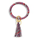Fashion leather fringed bracelet key ring NHJQ154409