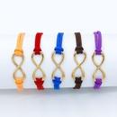 Fashion symbol 8 word twine bracelet NHDP154413